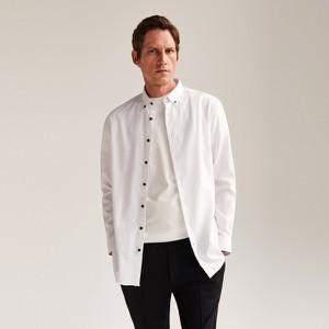 Koszula Reserved z bawełny z długim rękawem