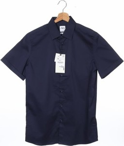 Koszula ZARA z krótkim rękawem z klasycznym kołnierzykiem