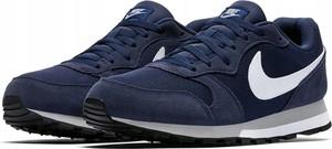 Granatowe buty sportowe Nike z zamszu