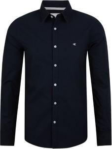 Koszula Calvin Klein z bawełny z klasycznym kołnierzykiem w stylu casual