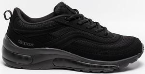 Czarne buty sportowe Kappa sznurowane