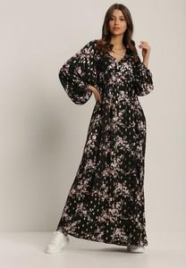 Sukienka Renee z długim rękawem z dekoltem w kształcie litery v trapezowa