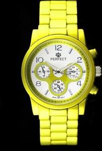 ZEGAREK DAMSKI PERFECT - FIESTA (zp684c) - Żółty