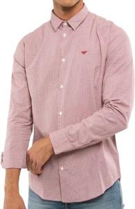 Koszula Emporio Armani z bawełny z długim rękawem
