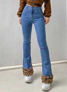 Niebieskie jeansy Arilook z polaru w stylu casual