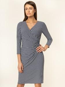Granatowa sukienka Ralph Lauren w stylu casual z długim rękawem