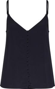 Czarna bluzka Vero Moda w stylu casual z dekoltem w kształcie litery v