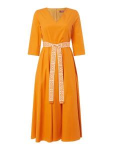 Pomarańczowa sukienka MaxMara Studio z długim rękawem