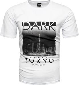 T-shirt Recea z bawełny z krótkim rękawem z nadrukiem