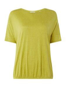 Zielona bluzka Opus z okrągłym dekoltem z krótkim rękawem