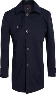 Czarny płaszcz męski giacomo conti