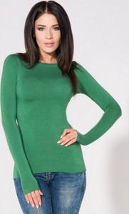 Zielona bluzka Tessita w stylu casual z dzianiny