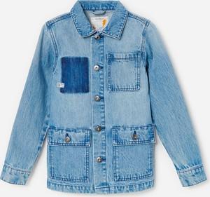 Niebieska kurtka dziecięca Reserved z jeansu