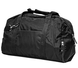 Czarna torba sportowa New Balance w sportowym stylu