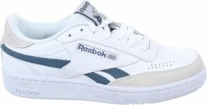 Buty sportowe Reebok z płaską podeszwą ze skóry sznurowane