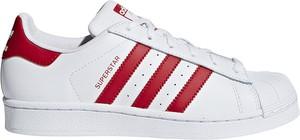 Trampki Adidas z płaską podeszwą w sportowym stylu sznurowane
