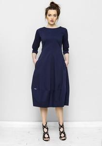 Sukienka Freeshion z bawełny z długim rękawem midi