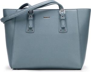 Niebieska torebka Wittchen ze skóry ekologicznej na ramię duża