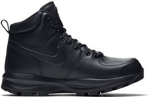 Buty zimowe Nike sznurowane w sportowym stylu z nubuku