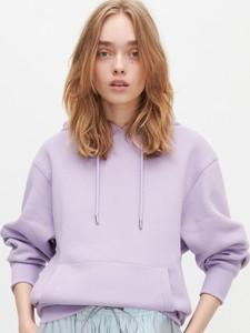 Fioletowa bluza Reserved krótka w młodzieżowym stylu