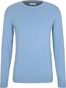 Niebieski sweter Tom Tailor z okrągłym dekoltem