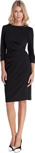 Czarna sukienka Colett z długim rękawem