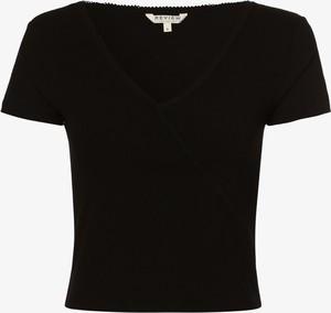 Czarny t-shirt Review z okrągłym dekoltem z krótkim rękawem