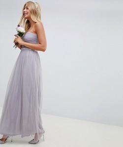 Fioletowa sukienka Asos maxi bez rękawów