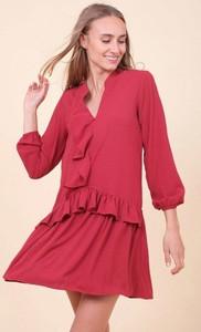 Czerwona sukienka Royalfashion.pl mini