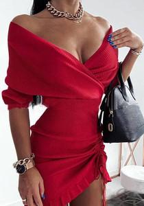 Czerwona sukienka Sandbella kopertowa mini