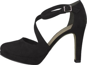 Czarne sandały S.Oliver na wysokim obcasie