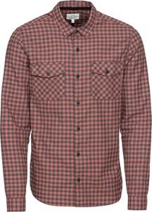 Czerwona koszula Q/s Designed By - S.oliver z długim rękawem z klasycznym kołnierzykiem