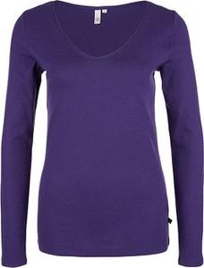 Fioletowy t-shirt Q/s Designed By - S.oliver z długim rękawem