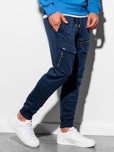 Granatowe spodnie sportowe Ombre