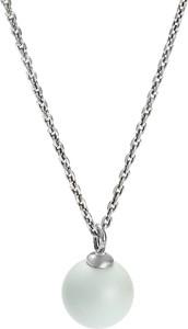 Peani Naszyjnik srebrny z pastelową perłą Swarovski niebieski