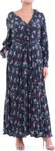 Sukienka Essentiel Antwerp z długim rękawem z dekoltem w kształcie litery v