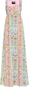 Sukienka Versace Jeans maxi na ramiączkach