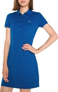 Niebieska sukienka Lacoste midi