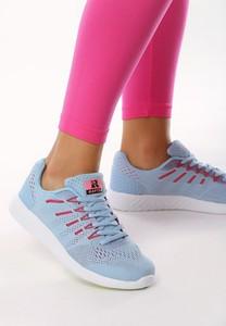 Niebieskie buty sportowe Multu z płaską podeszwą sznurowane