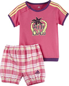 Komplet dziecięcy Adidas dla dziewczynek z bawełny