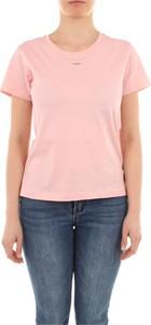 T-shirt Pinko z krótkim rękawem z okrągłym dekoltem