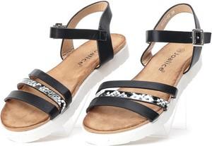 Czarne sandały Royalfashion.pl z klamrami