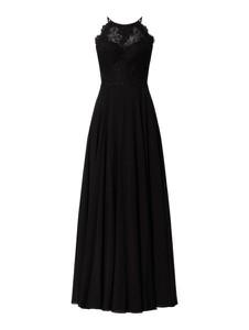 Czarna sukienka Luxuar z szyfonu maxi