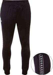 Czarne spodnie sportowe Kappa z dresówki w sportowym stylu