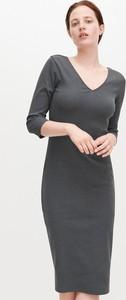 Sukienka Reserved mini dopasowana z długim rękawem