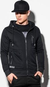Czarna bluza Ombre z bawełny w młodzieżowym stylu