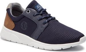Buty sportowe S.Oliver sznurowane ze skóry ekologicznej w młodzieżowym stylu