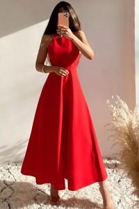 Sukienka IVET z dekoltem w kształcie litery v maxi