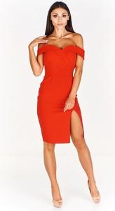 Sukienka Fokus z krótkim rękawem midi ołówkowa