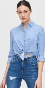 Niebieska bluzka Cropp w stylu casual